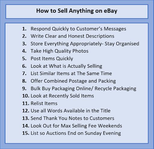 15 Expert Tips That Will Help You Sell Anything On Ebay In 2020