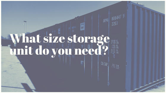 What size storage unit do you need