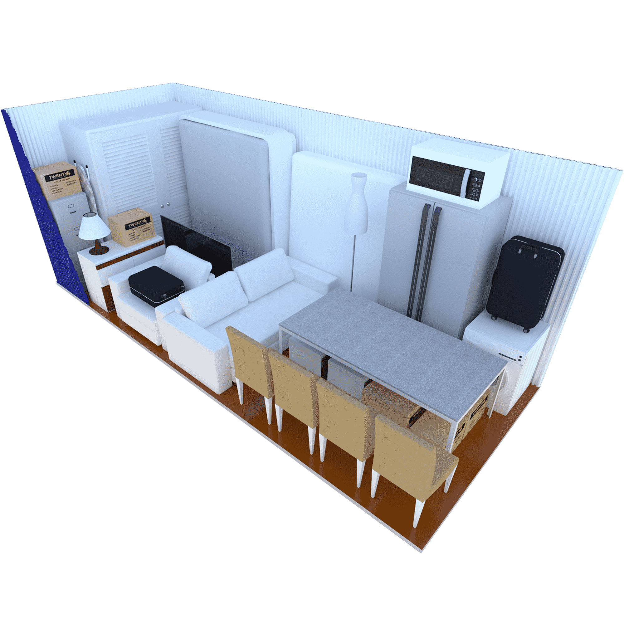 150 Sq ft Container